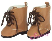 Tan Tie Boots by Sophia's