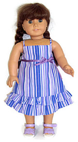 Sundress-Lavender & Blue Stripe