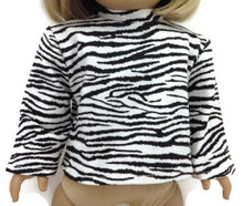 Zebra Print Long Sleeved Top