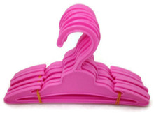 Plastic Hangers with Slit 1 dozen-Pink