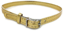 Belt with Silver Buckle-Gold