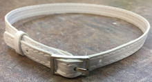Belt with Silver Buckle-White