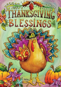 Thanksgiving Blessings Garden Flag