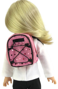 Backpack-Pink with Sequins for Wellie Wishers Dolls