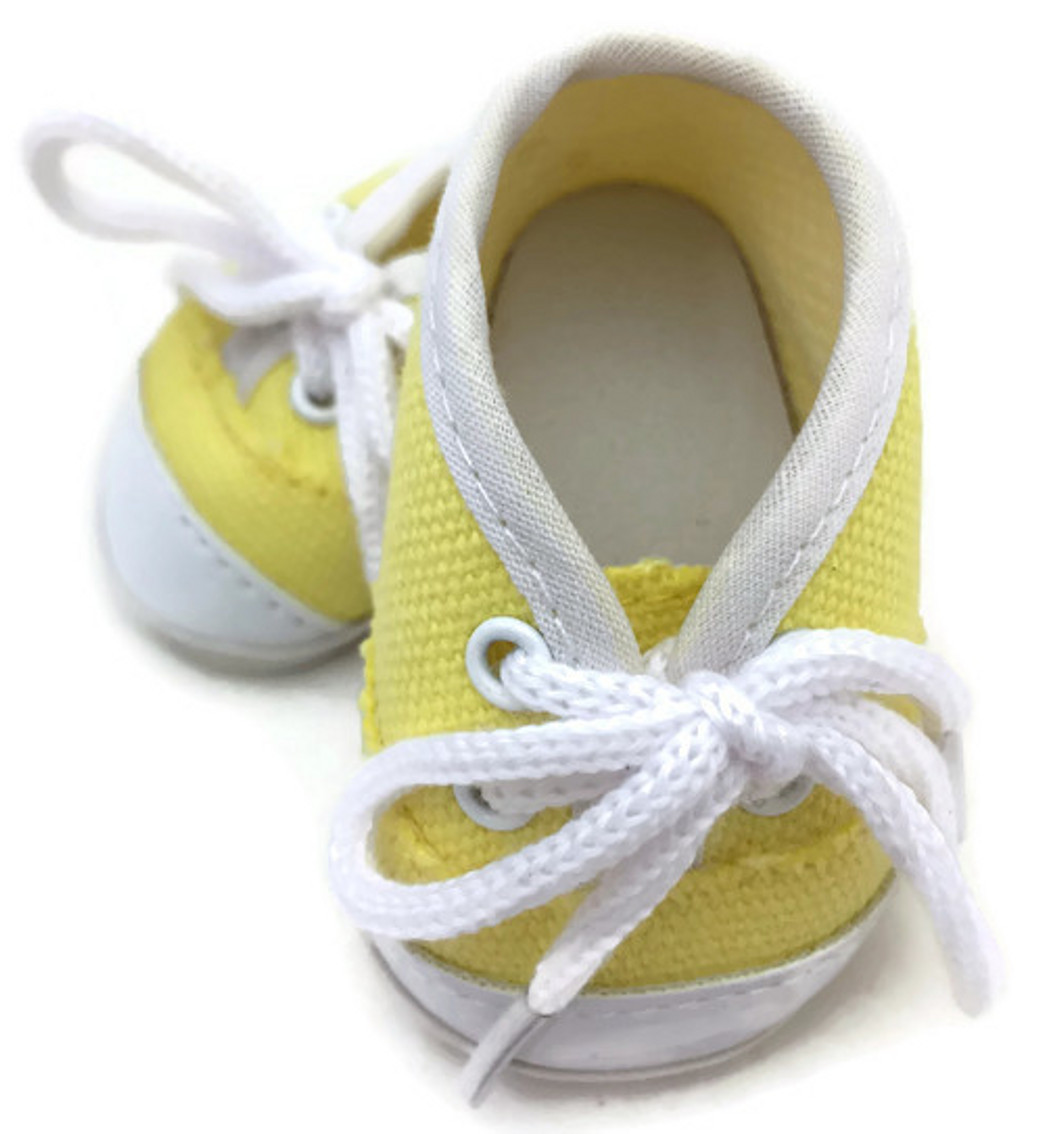 Doll Shoes Fit Bitty Baby Doll and Other 15 Inch Dolls White Canvas Sneakers Dori/'s Boutique