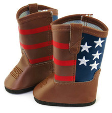 Brown Patriotic Cowboy Boots