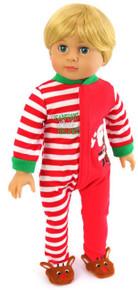 Santa's Little Helper Sleeper Pajamas