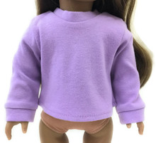 Long Sleeved Knit Shirt-Lavender