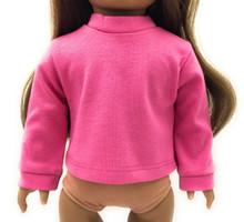 Long Sleeved Knit Shirt-Hot Pink