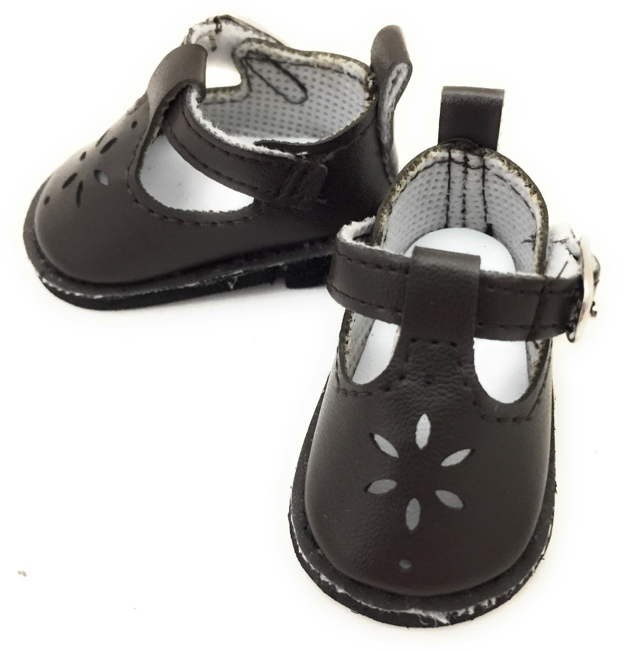 5e7c41842ff1b Mary Jane Shoes-Brown for Wellie Wishers Dolls