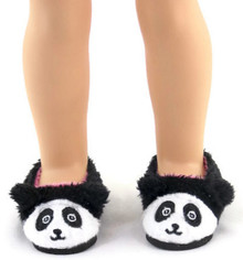 Panda Bear Slippers for Wellie Wishers Dolls
