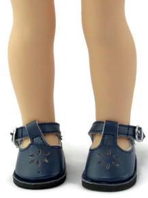 Mary Jane Shoes-Navy for Wellie Wishers Dolls