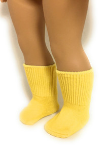 Knit Sport Socks-Yellow