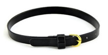 Belt with Gold Buckle-Black