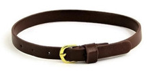 Belt with Gold Buckle-Brown