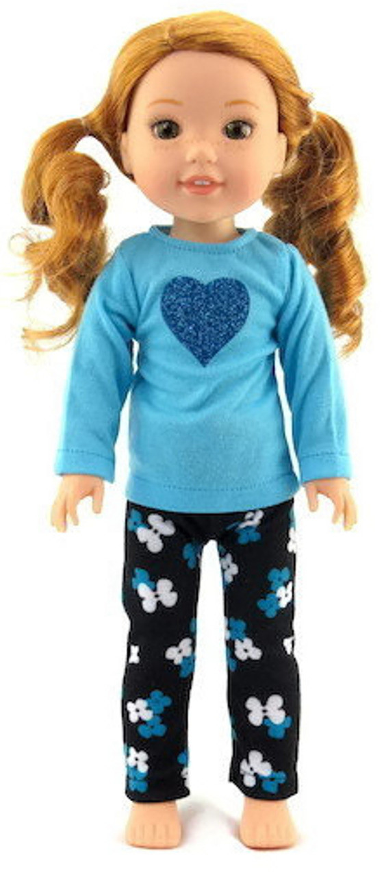 Blue Hooded Robe for 14.5 inch American Girl Wellie Wishers Wisher Doll Clothes