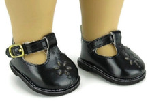 Mary Jane Shoes-Black for Wellie Wishers Dolls