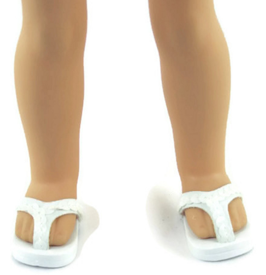 that fit Wellie Wisher Wishers Dolls White Ankle Strap Shoes