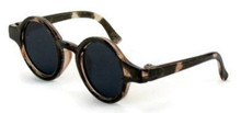 Circle Rimmed Sunglasses-Brown Tortoise for Wellie Wishers Dolls