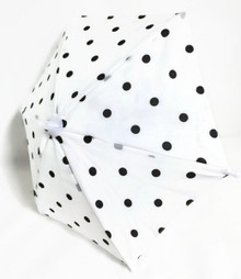 Umbrella-White with Black Polka Dots