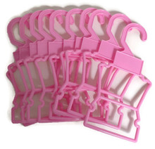 10 Plastic Outfit Hangers-Pink for Wellie Wishers Dolls