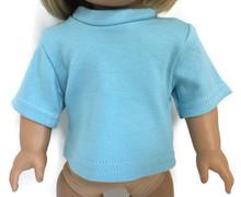 Short Sleeved Top-Light Blue