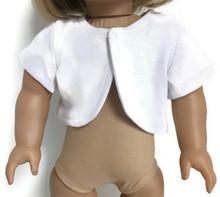 White Cotton Knit Short Sleeved Jacket