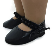 Dress Shoes with Beads and Bow-Black