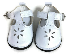 Mary Jane Shoes-White for Wellie Wishers Dolls