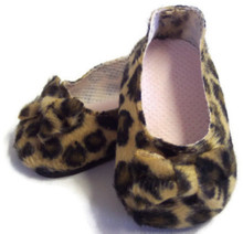 Suede Bow Shoes-Leopard Print