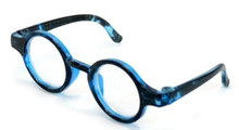 Circle Rimmed Glasses-Blue for Wellie Wishers Dolls