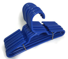 Hangers-Royal Blue Plastic 1 Dozen