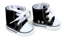 High Top Canvas Sneakers-Black