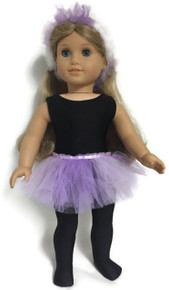 4 pc Ballerina Set-Black and Lavender