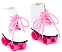 Roller Skates-White & Hot Pink