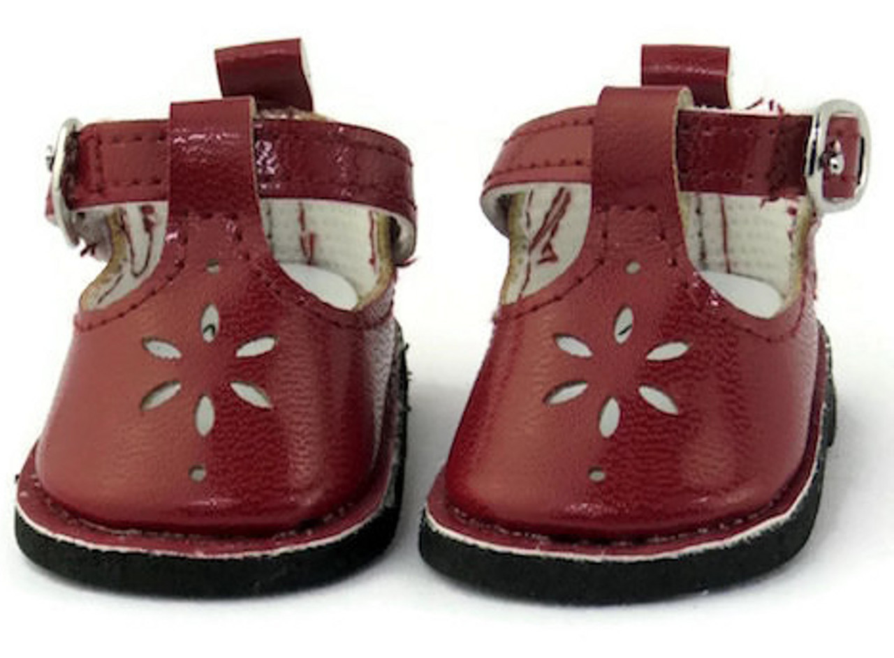 ddbbdcae178c9 Mary Jane Shoes-Burgundy for Wellie Wishers Dolls