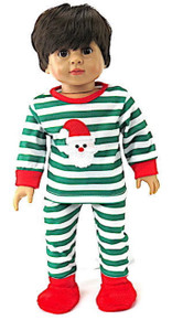Santa Striped Christmas Pajamas