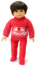 Red Reindeer Sweater and Red Pants