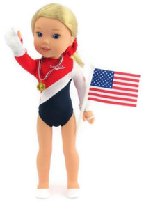 USA Complete Gymnastics Set for Wellie Wishers Dolls