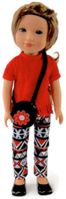 3 pc Tribal Pant Set for Wellie Wishers Dolls