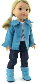 Turquoise Western Cowboy Set for Wellie Wishers Dolls