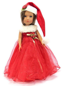 Sparkle Christmas Dress & Hat for Wellie Wishers Dolls