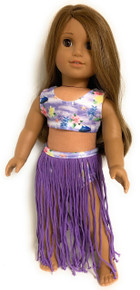 Hawaiian Hula Swimsuit Set-Purple