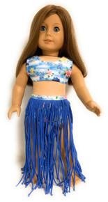 Hawaiian Hula Swimsuit Set-Blue