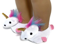 Slippers-White Unicorn