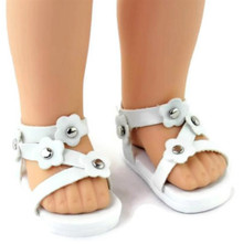 Sandals-White for Wellie Wishers Dolls