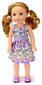 Easter Egg Dress for Wellie Wishers Dolls