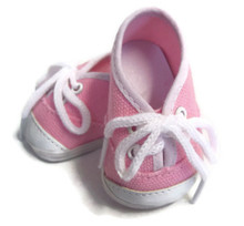 Canvas Tennis Shoes-Pink