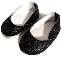 Princess Shoes-Black Rainbow Sparkle
