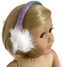 Sequin Earmuffs-Pastel Rainbow